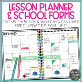 Teacher Binder and Lesson Planner, Black and White