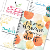 Teacher Binder and Lesson Planner | Editable LIMITED TIME SALE!!