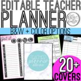 Teacher Planner or Binder: Editable & Simple!