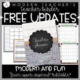 Teacher Binder and Planner Editable Free Updates Fixer Upper Inspired