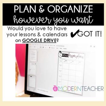 Teacher Binder and Planner Editable - PRETTY BASIC