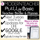 Teacher Binder and Planner Editable - PRETTY BASIC