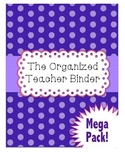 Editable Binder & Planner: Brights & Polkadots Design
