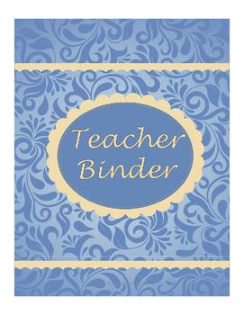 Teacher Binder - blue and beige