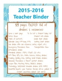 Teacher Binder {blue and brown flower theme} new for this school year!