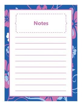 Teacher Binder {blue, pink, white flower theme}