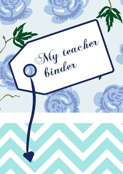 Teacher Binder (blue version)