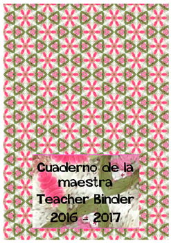 Teacher Binder cover in Spanish and English