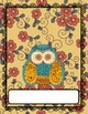 Teacher Binder covers vintage owl and flower theme (Editable in PPT)