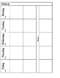 Teacher Binder documents (checklist, logs, outlines)