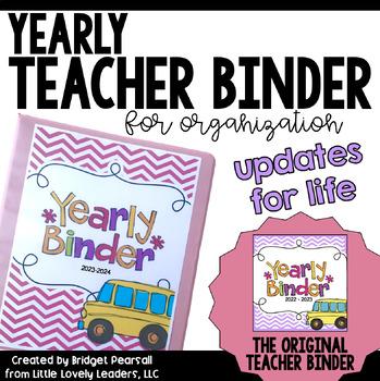 Teacher Binder for Organization (Including Substitute Packet)