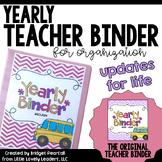 Teacher Binder for Organization (Substitute Binder, Grade Sheets, Plans, & More)