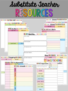 Editable Teacher Binder - Rainbow with Grey Chevron (Includes Blackline)