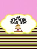 Teacher Binder for Organization - Pink and Black Stripes