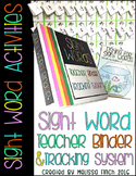 Teacher Binder for Sight Word Activity Organization- For Special Education