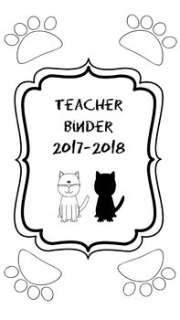 All in One Teacher & Personal Planner in Cat Theme