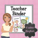Teacher Binder in GINGHAM