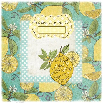 Teacher Binder in SHABBY CHIC LEMON YELLOW