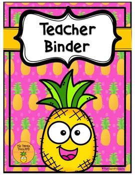 Teacher Binder in Tropical Pineapple Theme
