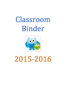 Teacher Binder (owls)