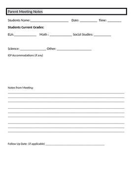 Teacher Binder templates and Forms