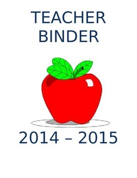 Teacher Binder templates and Forms