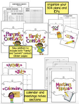 Binder with less color - (Including covers, spines, and substitute packet)