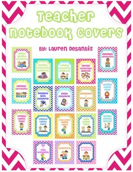 Teacher Binder/Notebook Covers