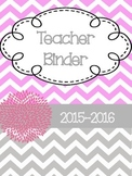 Teacher Binder/Planner