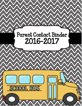 Teacher Binder/Planner 2017-2018