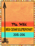Teacher Binder and Planner 2015-2016