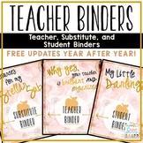 Teacher Binders Editable 2019-2020 Bundle