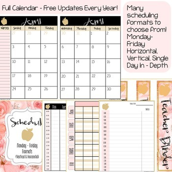 Teacher Binders Editable 2019-2020 Bundle
