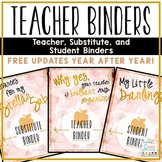 Teacher Binders Editable 2018-2019 Bundle