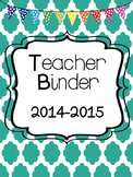 Teacher Binders & Dividers {EDITABLE}