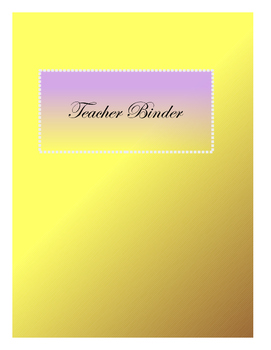 Teacher Binders pages!!