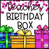 Teacher Birthday Box