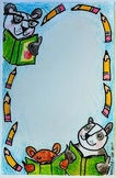 Teacher Blank Note Card: Bears Reading