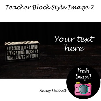 Teacher Block Style 2