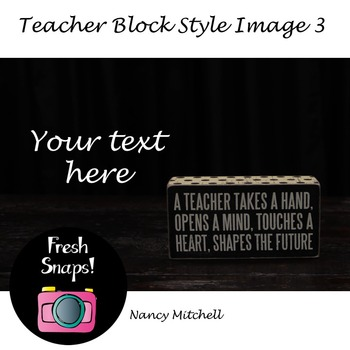 Teacher Block Style 3