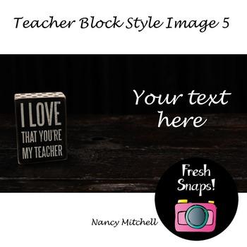 Teacher Block Style 5
