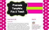 Teacher Blog Design: The Fun 2 Teach Template for Blogger