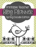 Teacher Blog Planner