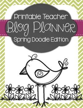 Teacher Blog Planner