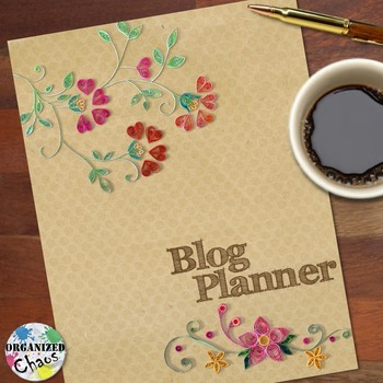 Blog Planner and Organization Binder