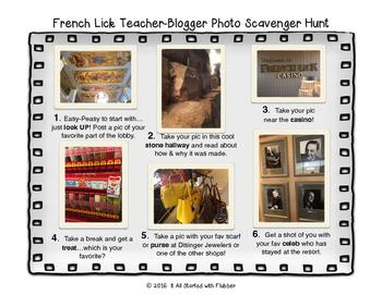 Teacher-Blogger Retreat Photo Scavenger Hunt