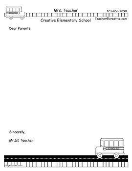 Teacher Border Pack & Stationary