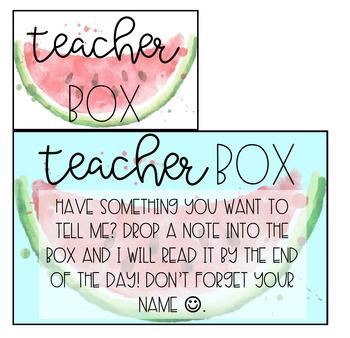 Teacher Box Labels: Freebie