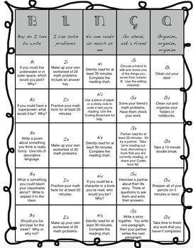Teacher Break Bingo / No Prep Independent Work Bingo