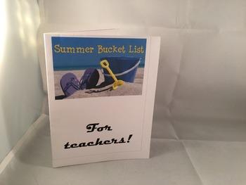Teacher Bucket List Card PDF DIY